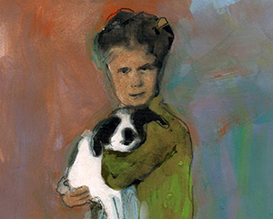 Linda with Dog -sold