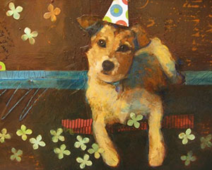 Dog in Hat -sold